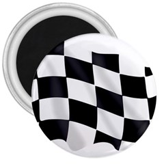 Flag Chess Corse Race Auto Road 3  Magnets by Amaryn4rt