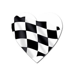Flag Chess Corse Race Auto Road Heart Magnet by Amaryn4rt