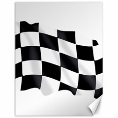 Flag Chess Corse Race Auto Road Canvas 12  X 16   by Amaryn4rt