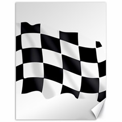 Flag Chess Corse Race Auto Road Canvas 18  X 24   by Amaryn4rt