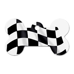 Flag Chess Corse Race Auto Road Dog Tag Bone (one Side) by Amaryn4rt