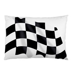 Flag Chess Corse Race Auto Road Pillow Case by Amaryn4rt