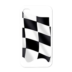 Flag Chess Corse Race Auto Road Apple Iphone 4 Case (white) by Amaryn4rt