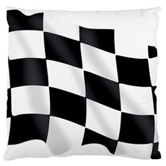 Flag Chess Corse Race Auto Road Large Cushion Case (one Side) by Amaryn4rt
