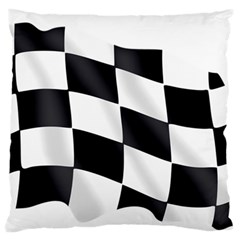 Flag Chess Corse Race Auto Road Large Flano Cushion Case (one Side) by Amaryn4rt