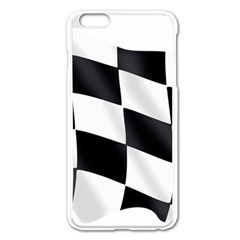 Flag Chess Corse Race Auto Road Apple Iphone 6 Plus/6s Plus Enamel White Case by Amaryn4rt