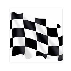 Flag Chess Corse Race Auto Road Small Satin Scarf (square) by Amaryn4rt