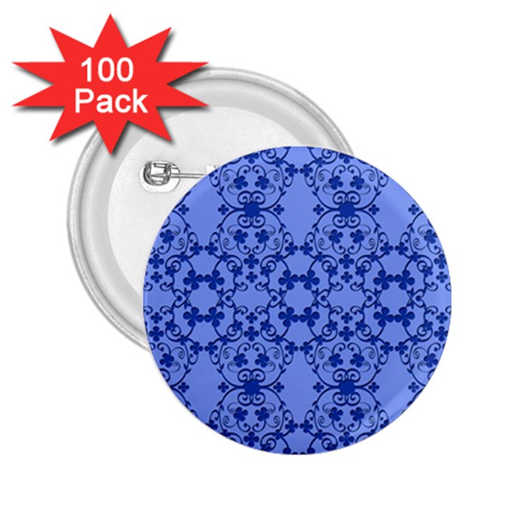 Floral Ornament Baby Boy Design 2.25  Buttons (100 pack)