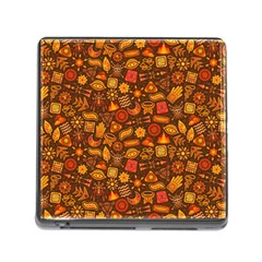 Pattern Background Ethnic Tribal Memory Card Reader (square) by Amaryn4rt