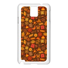 Pattern Background Ethnic Tribal Samsung Galaxy Note 3 N9005 Case (white) by Amaryn4rt