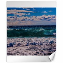 Wave Foam Spray Sea Water Nature Canvas 11  X 14