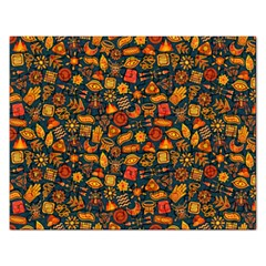 Pattern Background Ethnic Tribal Rectangular Jigsaw Puzzl by Amaryn4rt