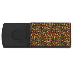 Pattern Background Ethnic Tribal Usb Flash Drive Rectangular (4 Gb) by Amaryn4rt