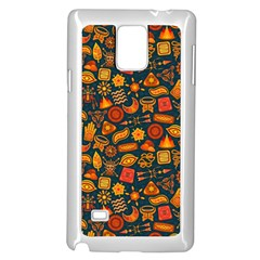 Pattern Background Ethnic Tribal Samsung Galaxy Note 4 Case (white) by Amaryn4rt