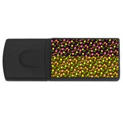 Flowers Roses Floral Flowery Usb Flash Drive Rectangular (4 Gb) by Amaryn4rt