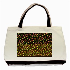 Flowers Roses Floral Flowery Basic Tote Bag (two Sides)