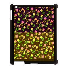 Flowers Roses Floral Flowery Apple Ipad 3/4 Case (black) by Amaryn4rt
