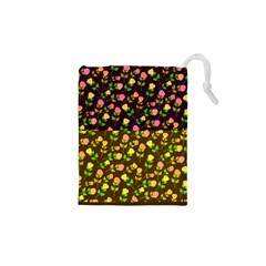 Flowers Roses Floral Flowery Drawstring Pouches (xs)