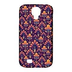 Abstract Background Floral Pattern Samsung Galaxy S4 Classic Hardshell Case (pc+silicone) by Amaryn4rt