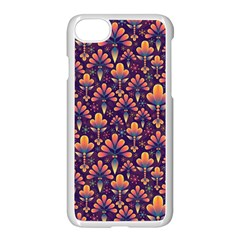 Abstract Background Floral Pattern Apple Iphone 7 Seamless Case (white)