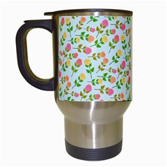 Flowers Roses Floral Flowery Travel Mugs (white) by Amaryn4rt
