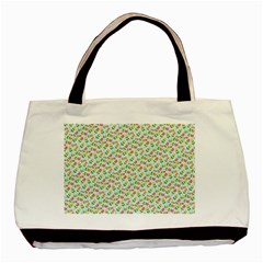 Flowers Roses Floral Flowery Basic Tote Bag (two Sides) by Amaryn4rt