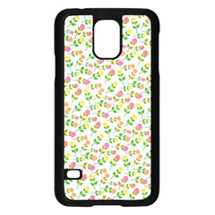 Flowers Roses Floral Flowery Samsung Galaxy S5 Case (black) by Amaryn4rt