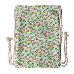 Flowers Roses Floral Flowery Drawstring Bag (large)