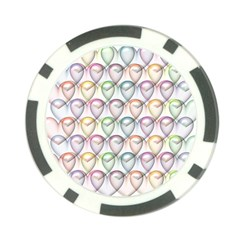 Valentine Hearts 3d Valentine S Day Poker Chip Card Guard (10 Pack)