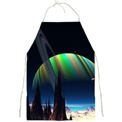 Planets In Space Stars Full Print Aprons by Amaryn4rt
