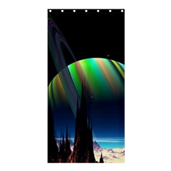 Planets In Space Stars Shower Curtain 36  X 72  (stall)  by Amaryn4rt