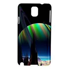 Planets In Space Stars Samsung Galaxy Note 3 N9005 Hardshell Case by Amaryn4rt