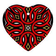 Traditional Art Pattern Ornament (heart) by Amaryn4rt