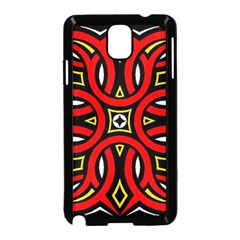 Traditional Art Pattern Samsung Galaxy Note 3 Neo Hardshell Case (black) by Amaryn4rt
