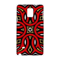 Traditional Art Pattern Samsung Galaxy Note 4 Hardshell Case by Amaryn4rt