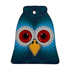 Bird Eyes Abstract Bell Ornament (two Sides) by Amaryn4rt