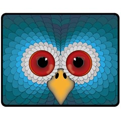 Bird Eyes Abstract Double Sided Fleece Blanket (medium)  by Amaryn4rt