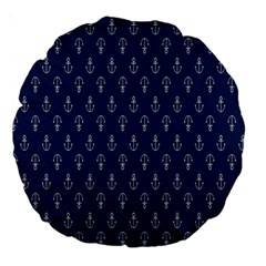 Anchor Pattern Large 18  Premium Round Cushions by Amaryn4rt
