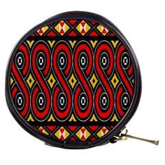 Toraja Traditional Art Pattern Mini Makeup Bags by Amaryn4rt