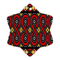 Toraja Traditional Art Pattern Snowflake Ornament (two Sides) by Amaryn4rt