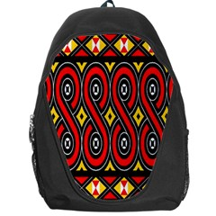 Toraja Traditional Art Pattern Backpack Bag by Amaryn4rt