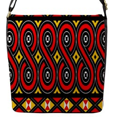 Toraja Traditional Art Pattern Flap Messenger Bag (s) by Amaryn4rt