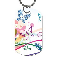 Butterfly Vector Art Dog Tag (two Sides) by Amaryn4rt