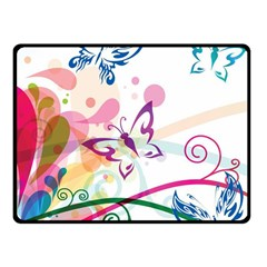 Butterfly Vector Art Fleece Blanket (small) by Amaryn4rt
