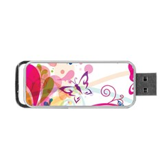 Butterfly Vector Art Portable Usb Flash (two Sides) by Amaryn4rt