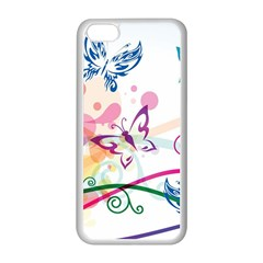 Butterfly Vector Art Apple Iphone 5c Seamless Case (white)