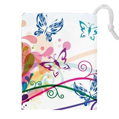 Butterfly Vector Art Drawstring Pouches (xxl) by Amaryn4rt