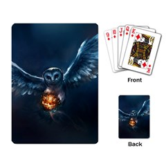 Owl And Fire Ball Playing Card