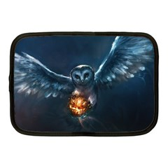 Owl And Fire Ball Netbook Case (medium)  by Amaryn4rt