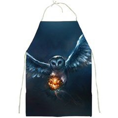 Owl And Fire Ball Full Print Aprons by Amaryn4rt